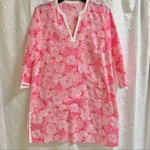 Lilly Pulitzer Marco Island S Tunic Pink Floral